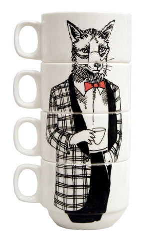 Coffee Cup Set Mr Fox