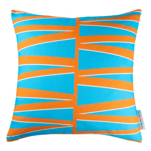 50 cm x 50 cm Blue & Orange