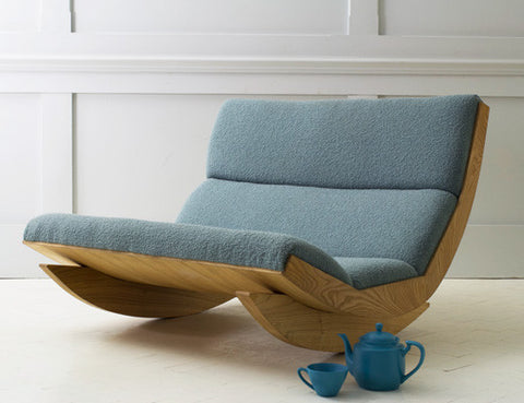 Rocking Chair Rocker Bute inTurquoise