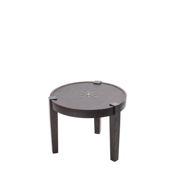 Coffee Table Rotondo Cuoio Brown
