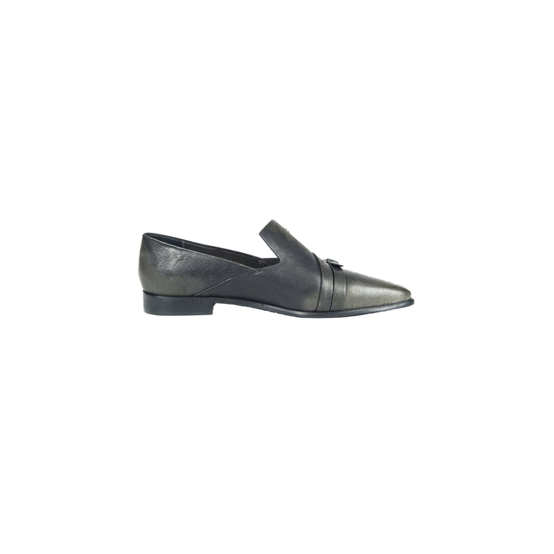 Buckle Embellished Pointed Loafer Lava