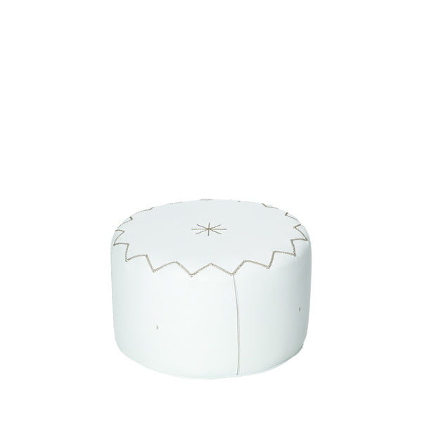 Pouffe New Casablanca L Cervo White