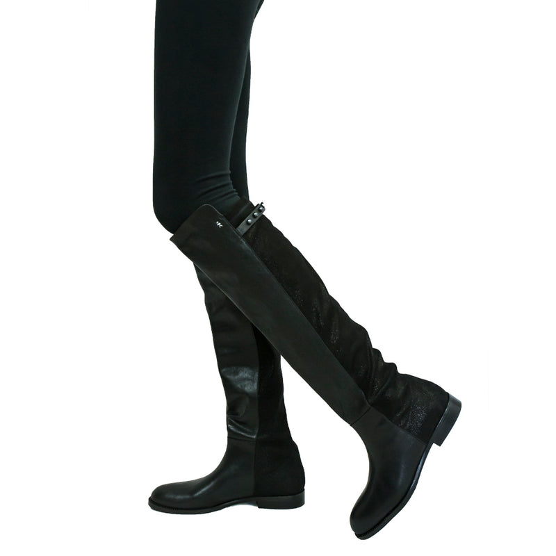 Boot Cuoio Lux/Stretch Stellare Nero