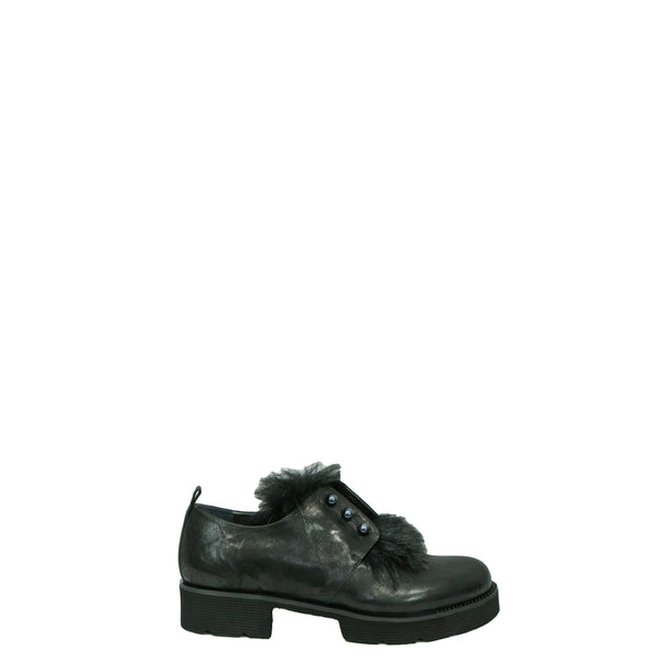 Scarpa Perle Fur Metal Wash Nero
