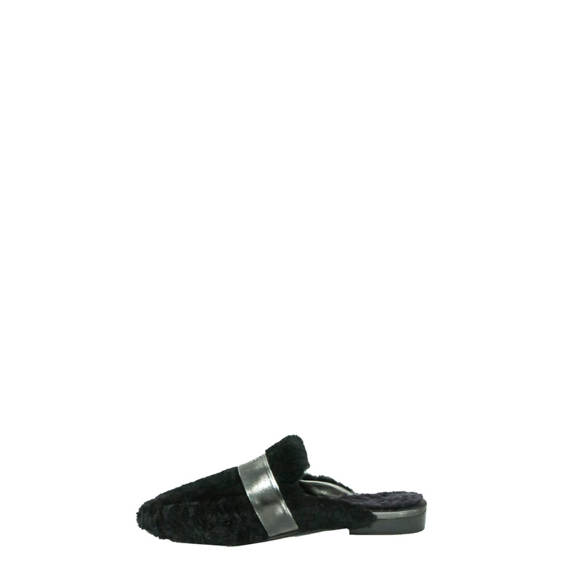 Slipper Montone Nero