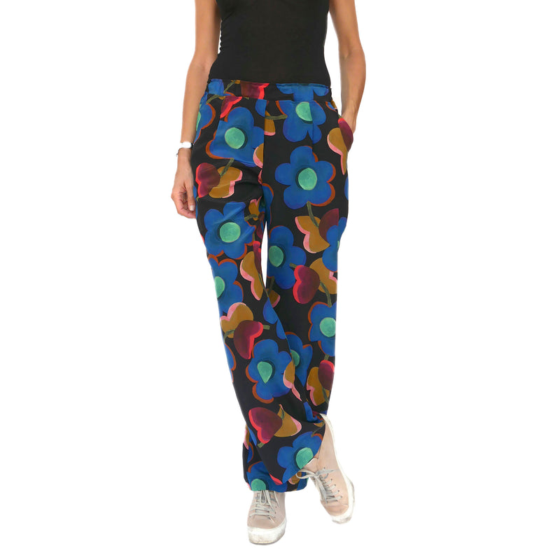 Blooming Silk Pull-On Pants