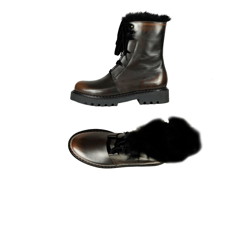 Brushed Combat Boot Brandy
