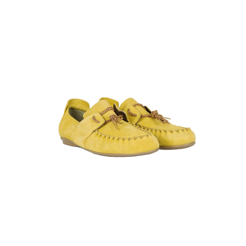 Car Shoe Camoscio Vintage Curry