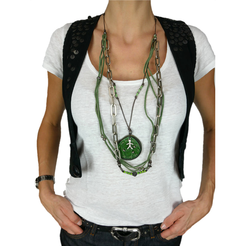 Necklace Taty Printed Croco Edera