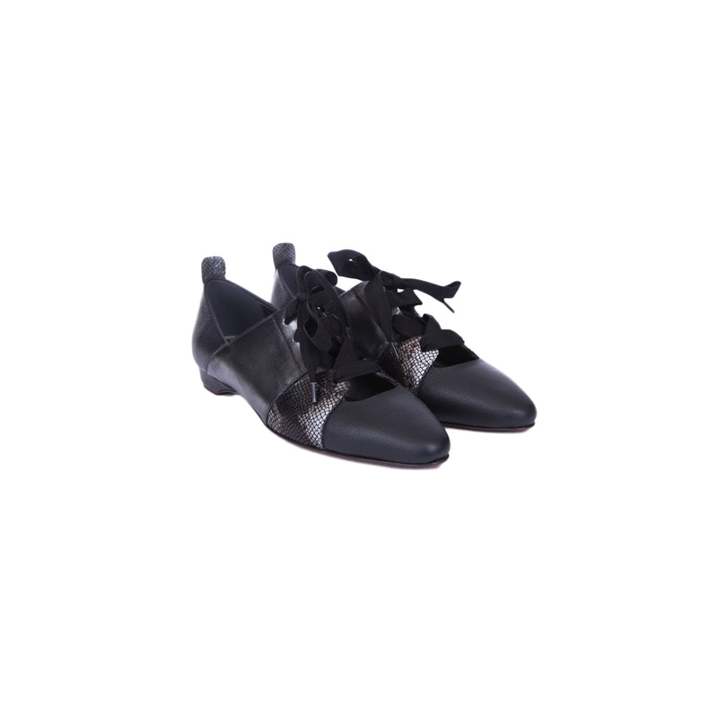 Flat Shoes Metal Sport Nero