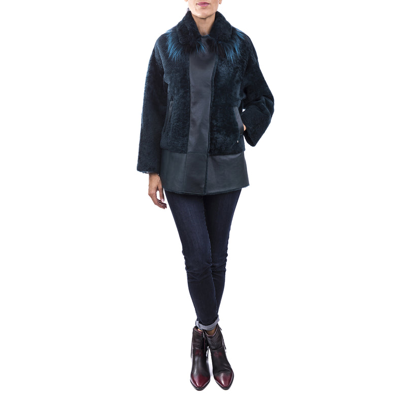 Reversible Lamb Jacket with Fur Pacaja Baltico