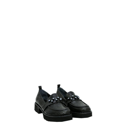 Mocassino Perle Metal Wash Nero