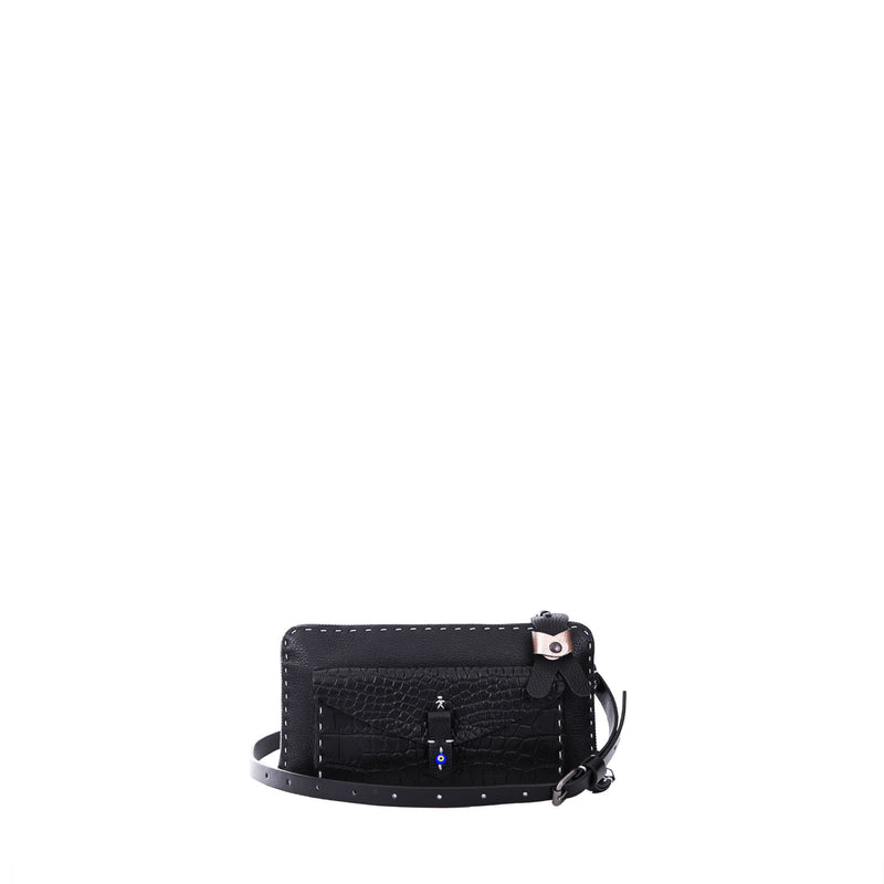 Ocean Pocket Cervo/Croco Printed  Nero
