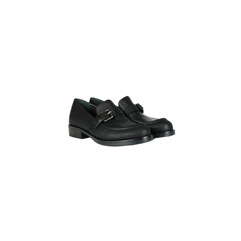 Buckle Moccasin Snake Nero