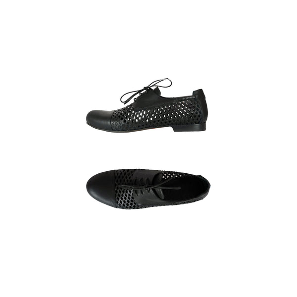 Lace-Up Shoes Messico Laserato Nero