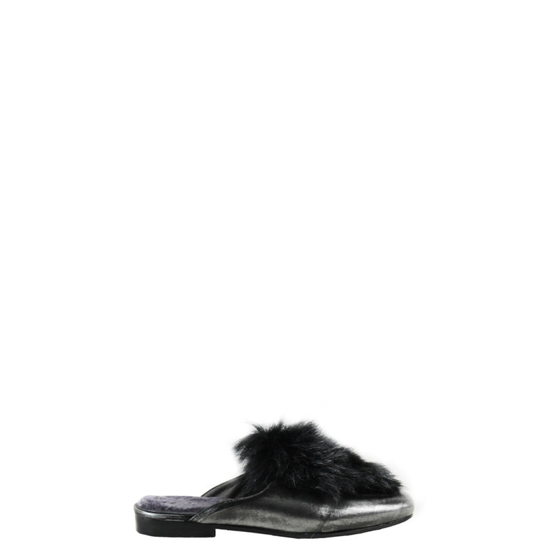 Slipper Fur Hollywood Metal Sport Argento
