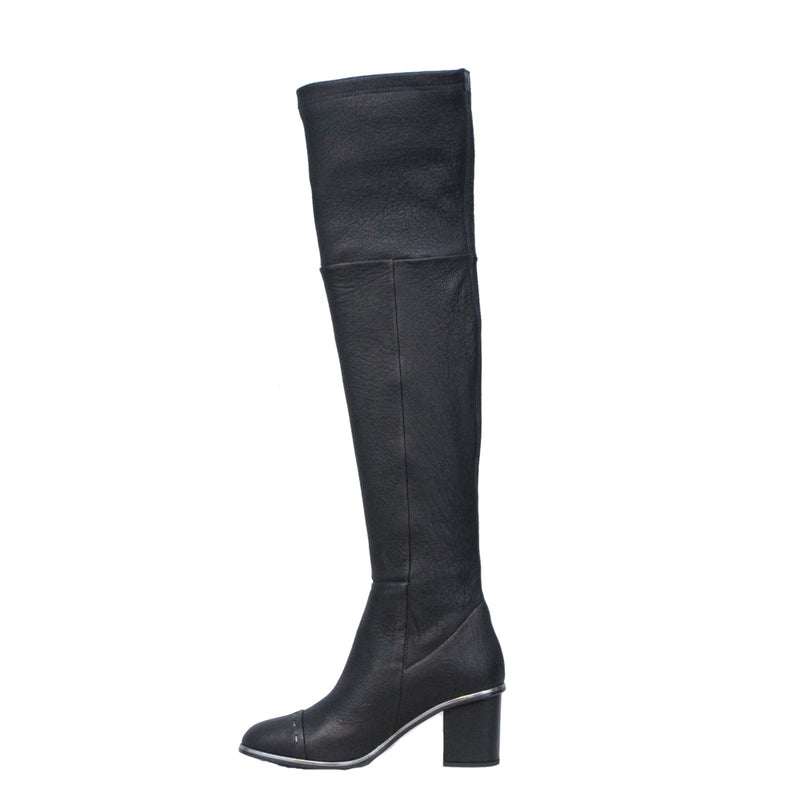 High Boot Stretch  Nappa Vintage Nero
