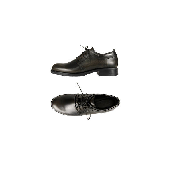 Tweed Lace-Up Shoes Spazzolato Lava