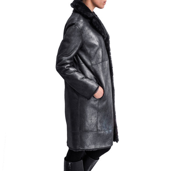 Cappotto Reversibile Metallic Cenere