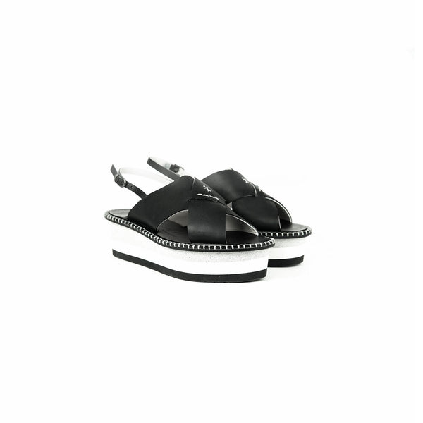 Wedge Sandal Spinner Nero