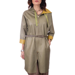 Trench Reversible Nappa Salvia Curry
