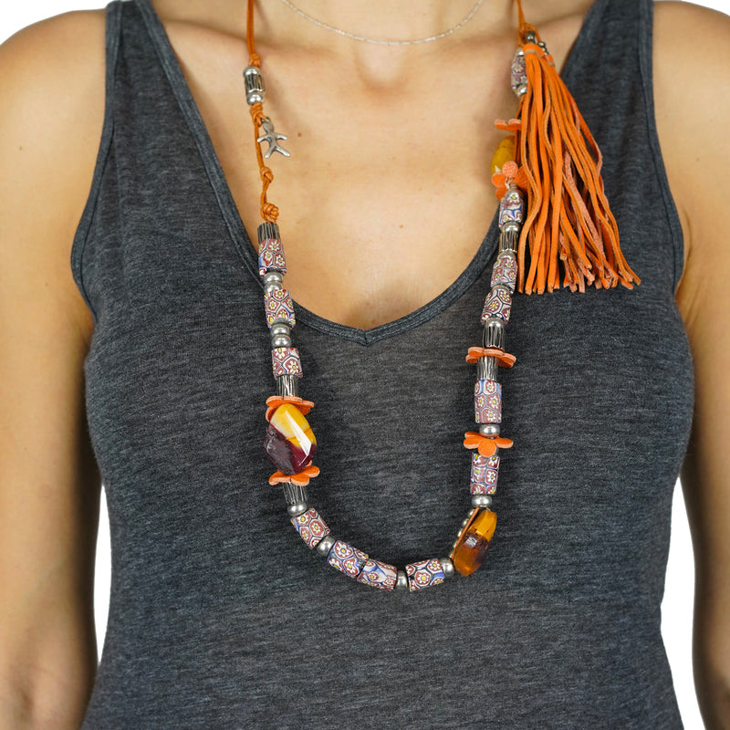 Necklace Kali Ranch Lux Orange