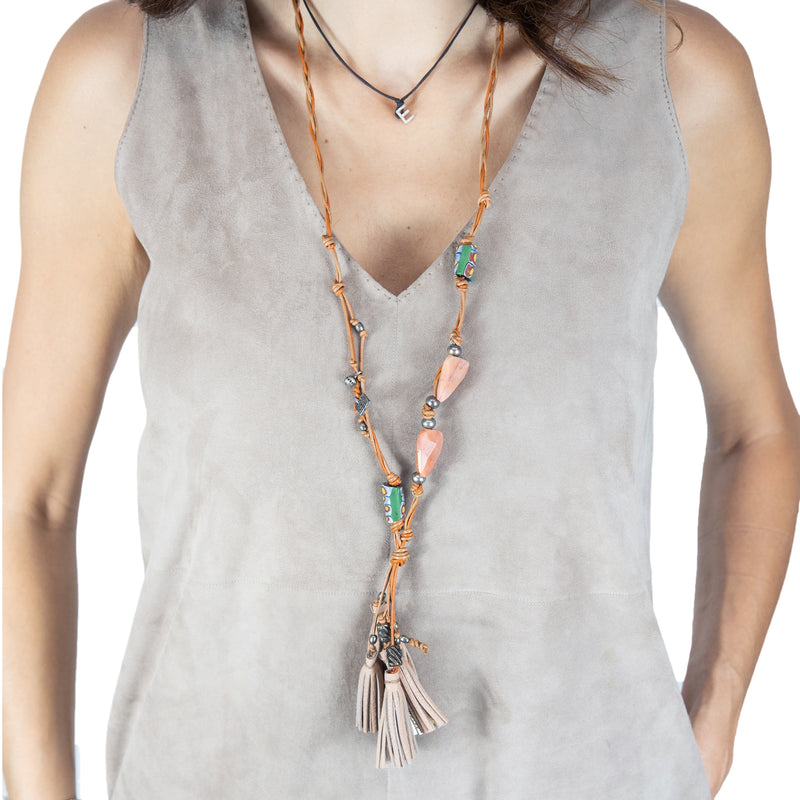 Necklace Luanda Cervo Nude