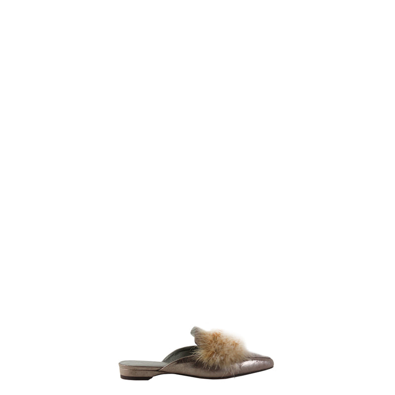 Feather Mules Metal Wash Nudo