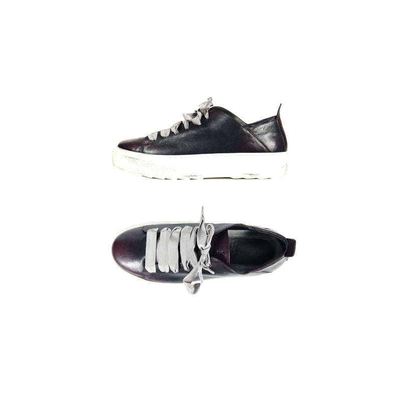 Brushed Lace-Up Sneaker Chianti