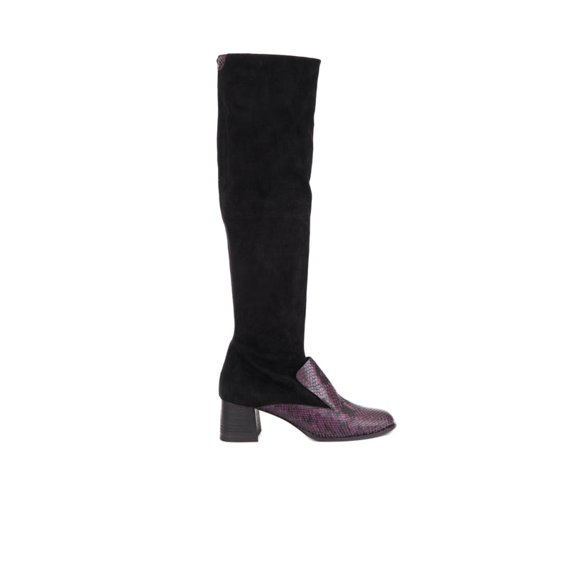 Boot Suede Stretch Nero