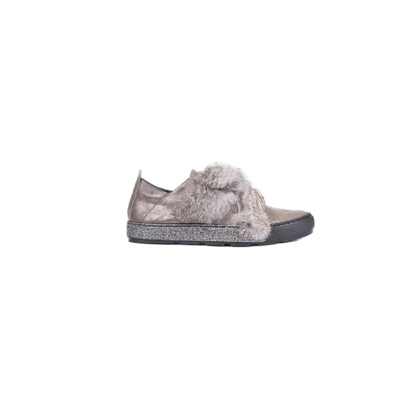 SNEAKER FUR METAL WASH ANTRACITE