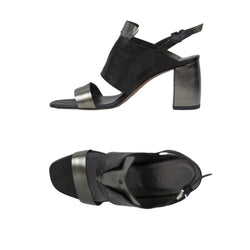 Sandal Palmato Metal Wash Nero