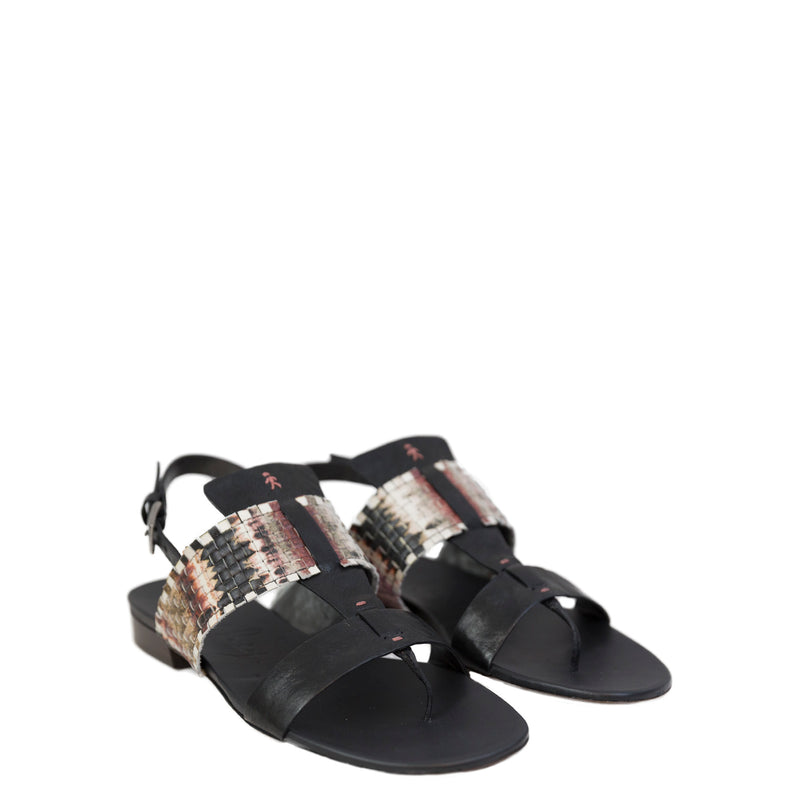 Thong Sandal Intreccio Electric Metal Wash Multicolor