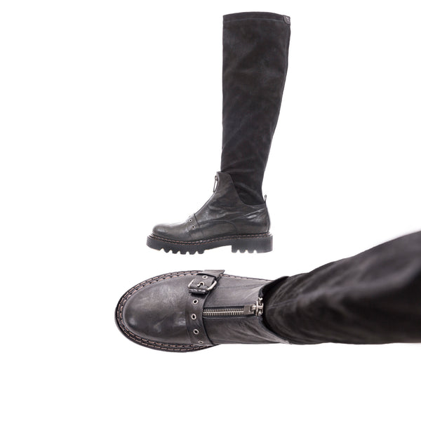 Boot Fibbia Stretch Stellare Metal Wash Nero