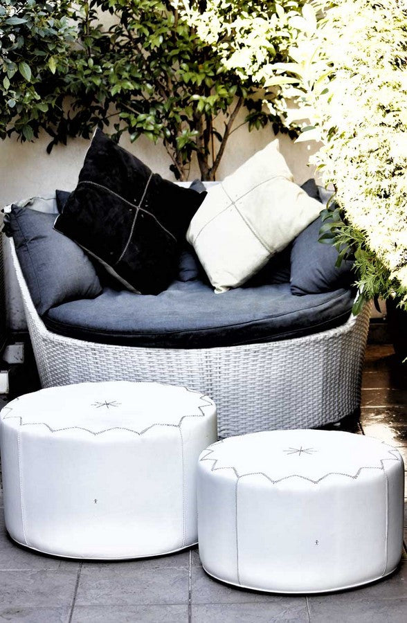 Pouffe New Casablanca S Cervo White