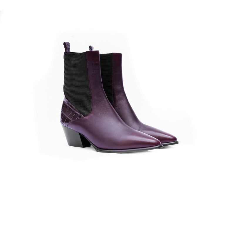 Point-Toe Western Bootie Chianti