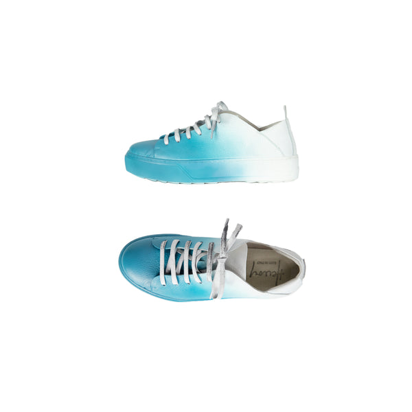 Turquoise Sprayed Sneaker