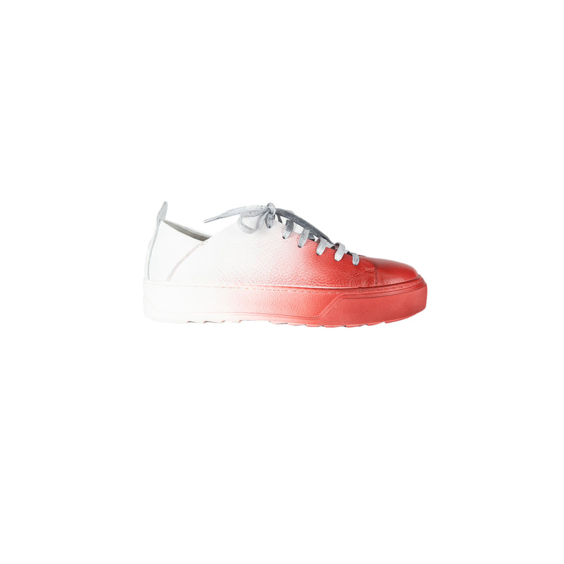 Red Sprayed Sneaker