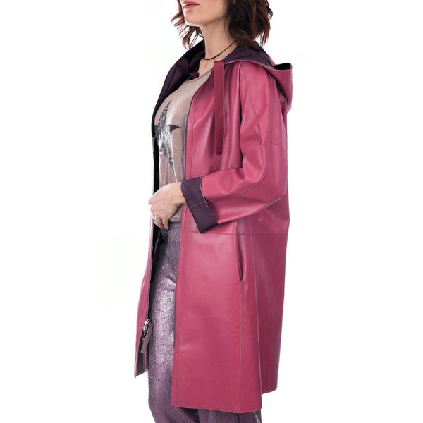 Trench Reversible Nappa Burgundy