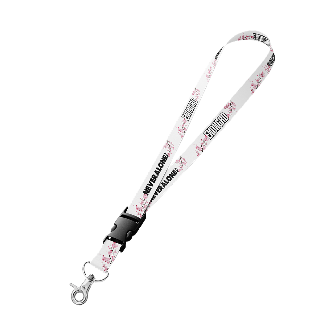Never Alone; Cherry Blossom Lanyard