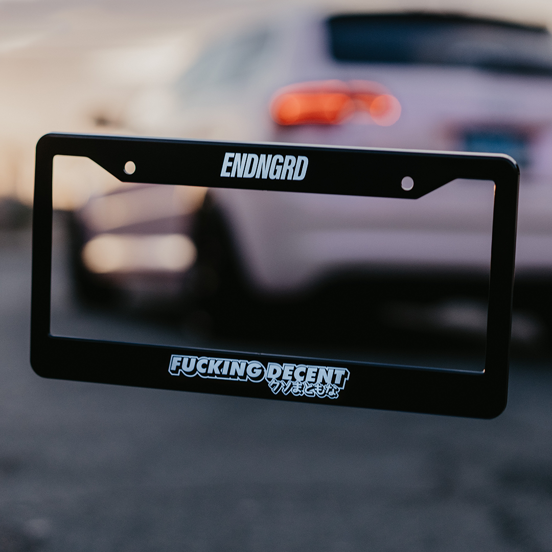 Fucking Decent License Plate Frame