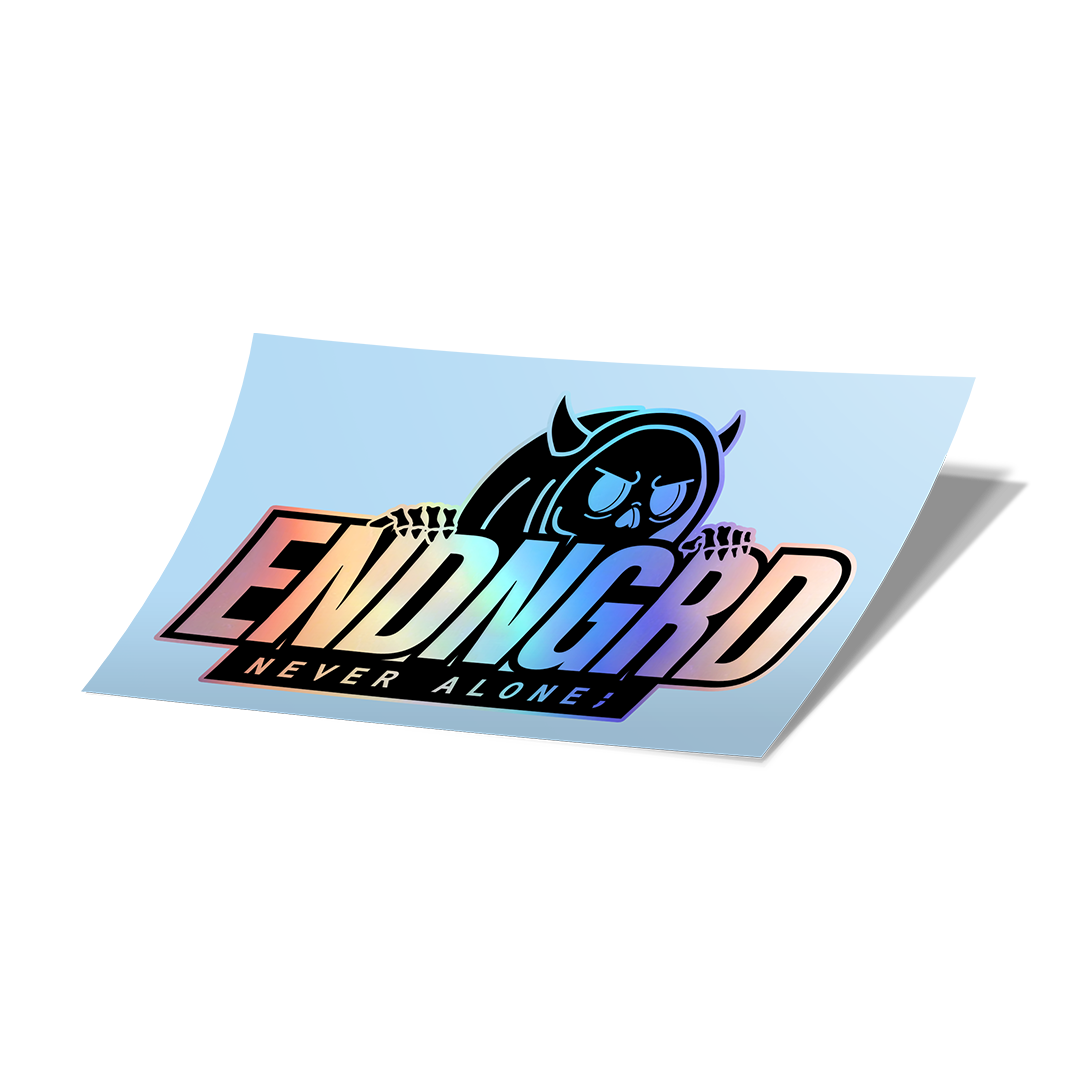 ENDNGRD Demon Logo Vinyl Cut Sticker - Holographic