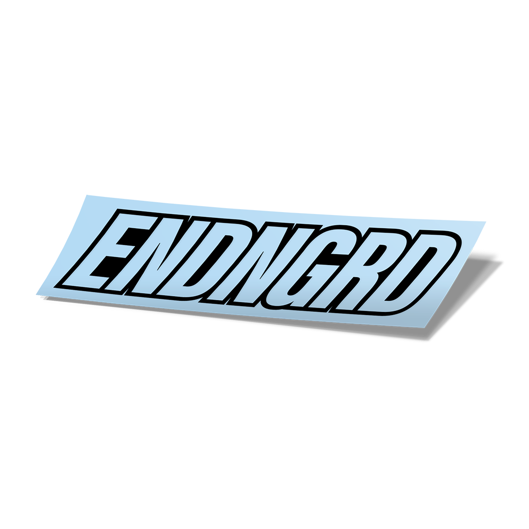 ENDNGRD Logo Vinyl Cut Sticker - Matte Black