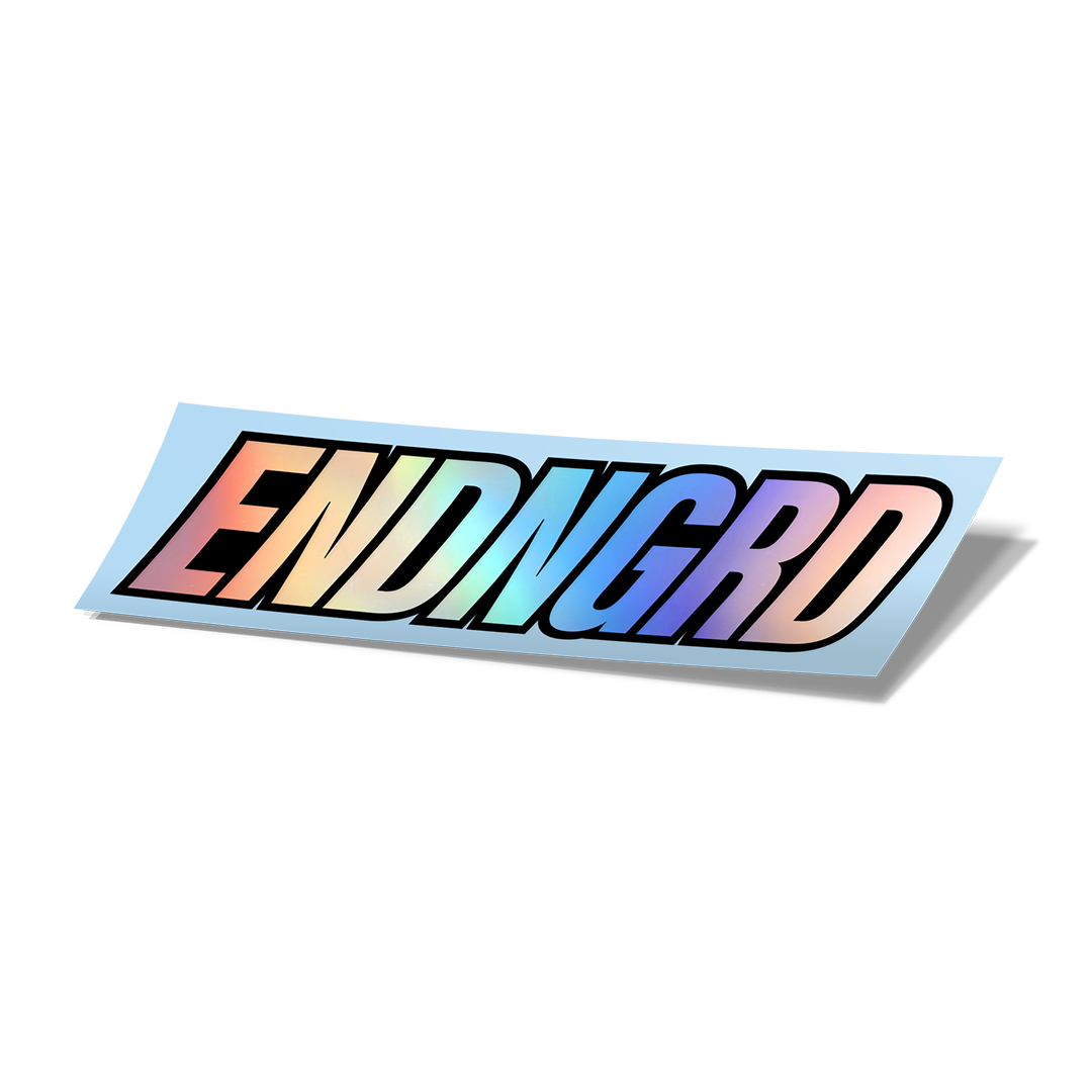 ENDNGRD Logo Vinyl Cut Sticker - 3 Pack