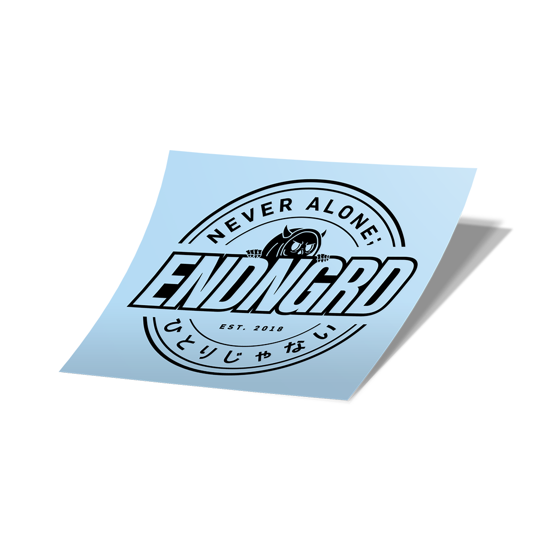 ENDNGRD Round Vinyl Cut Sticker - Matte Black