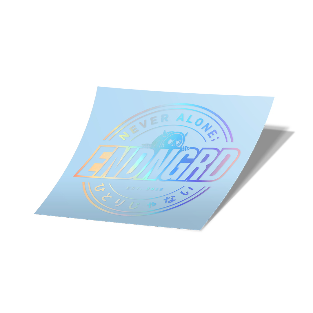 ENDNGRD Round Vinyl Cut Sticker - Holographic
