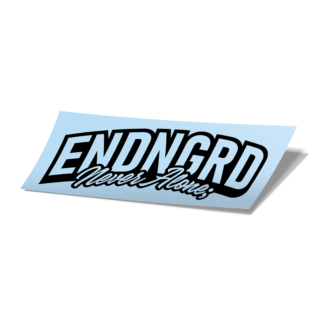 ENDNGRD Never Alone; Cursive Vinyl Cut Decal - Matte Black