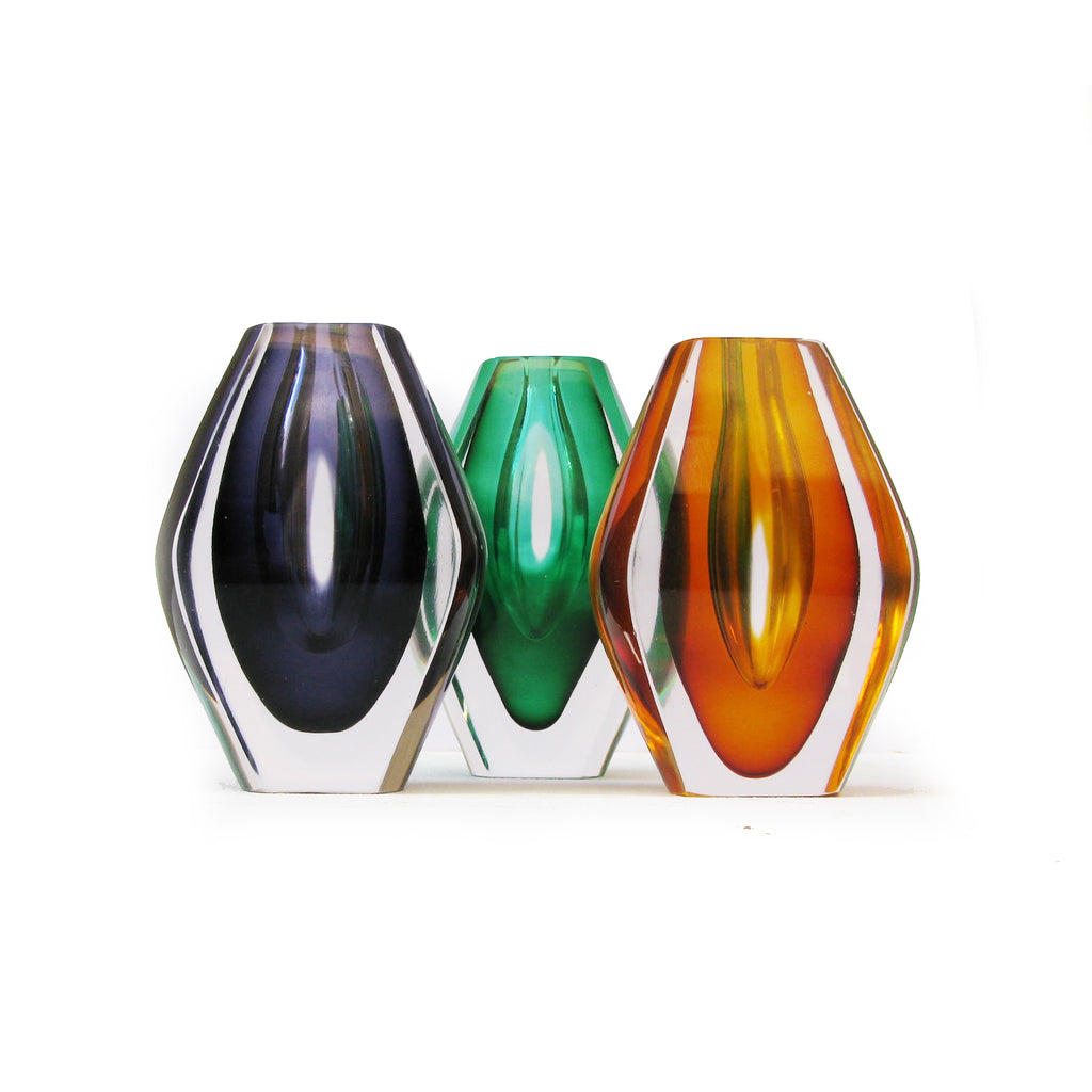 Glass Vase Set by Mona Morales Schildt