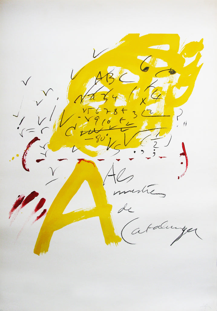 Antoni Tàpies 'To the Catalan Teachers N3' - Lithograph
