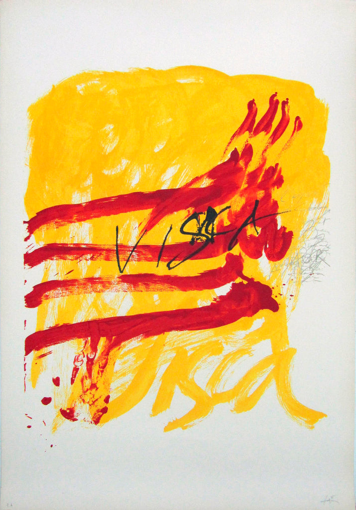 Antoni Tàpies 'To the Catalan Teachers N7' - Lithograph